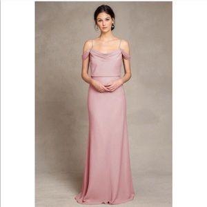 Jenny Yoo Whipped Apricot Crepe Sabine Dress Sz. 6